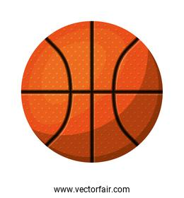 silhouette color with basketball ball to front