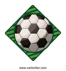 soccer tournament emblem with ball