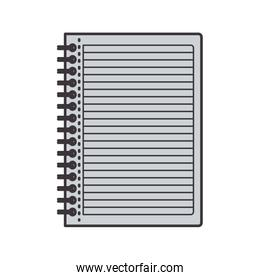 gray silhouette notebook with rings