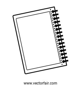 black silhouette notebook with rings