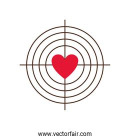 target with heart icon