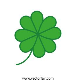 silhouette colorful with clover four leaves