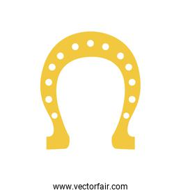 silhouette colorful with golden horseshoe