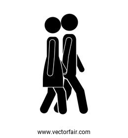 man and woman walking icon