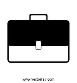 monochrome silhouette with Executive briefcase