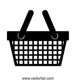 silhouette monochrome with shopping basket