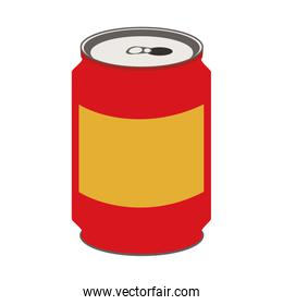 soda drink in can isolated icon