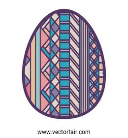 colorful easter egg design with figure geometric