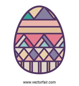 colorful easter egg design with horizontal striped