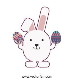 rabbit holding easter eggs design