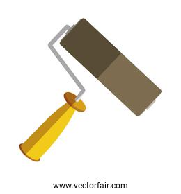 yellow paint roller icon tool
