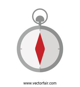 gray silhouette compass icon withred diamond
