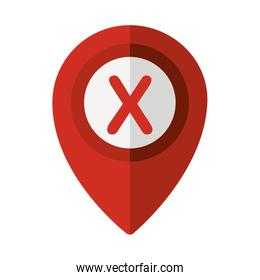 map pointer with shape x