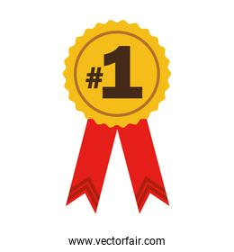 number one ribbon award