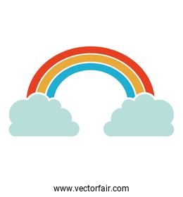 clouds and rainbow icon