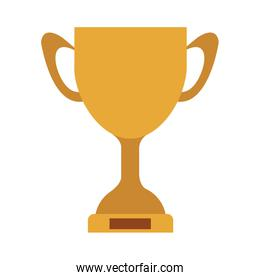 silhouette colorful Trophy Cup with plate