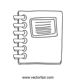 monochrome contour notebook spiral with sheets