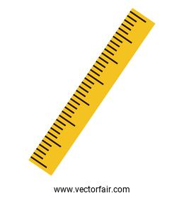 silhouette with ruler flat yellow