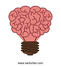 light bulb in form of brain icon