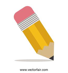pencil with eraser icon with shadow