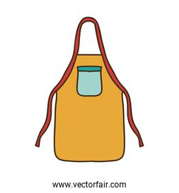 silhouette colorful with kitchen apron