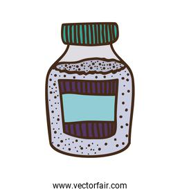 silhouette colorful bottle with salt and pepper