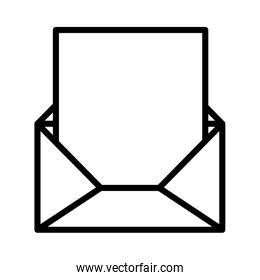 silhouette envelope opened with sheet