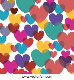 background valentines day with hearts