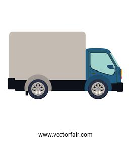 colorful silhouette truck with wagon