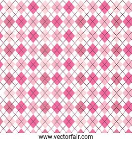 pink pattern with diamond shapes