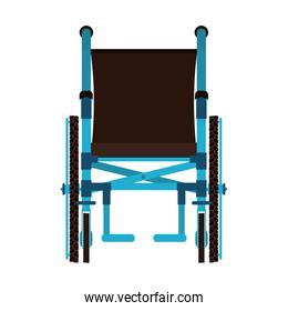 front view wheelchair design medical icon