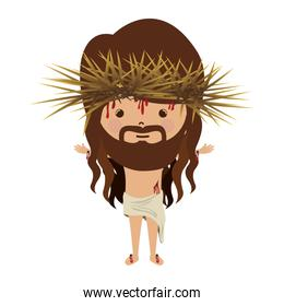 avatar jesus christ with crown thorns and bood