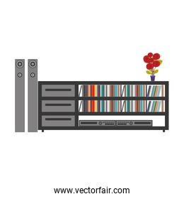 silhouette color with stero sound entertainment system