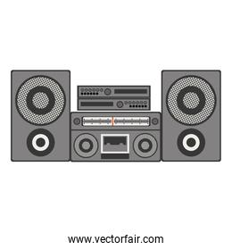silhouette gray scale with entertainment sound center