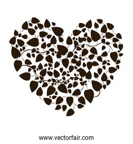 heart shape leaves with creepers