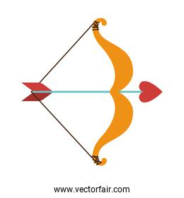 cupid bow icon and arrow with a heart