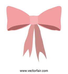 silhouette pink lace bow icon