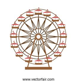 Ferris wheel in thematic park icon