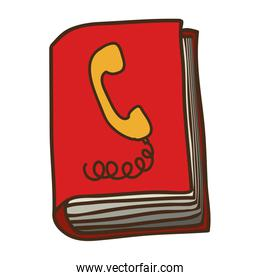 address book symbol icon with cover