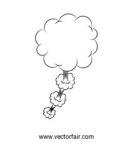 silhouette cloud callout with cumulus cloud