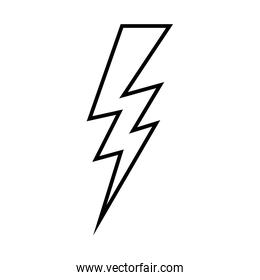 silhouette lightning design flat icon