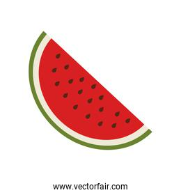 silhouette colorful with slice watermelon