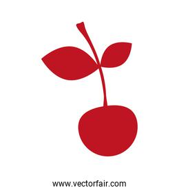 silhouette red color with cherry fruit