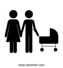 silhouette of couple icon