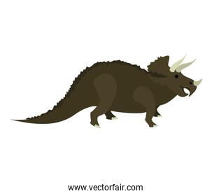 colorful cartoon with dinosaur triceratops