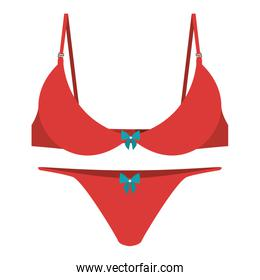 red set brassier tanga with bow