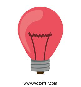 silhouette with pink bulb light on
