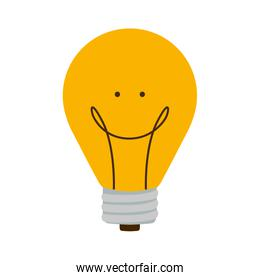 bulb light with happy face and filament