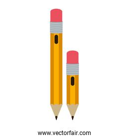 big and small design pencil with eraser