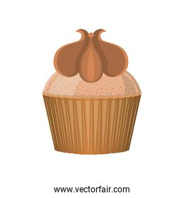 silhouette colorful cupcake with peanut cream